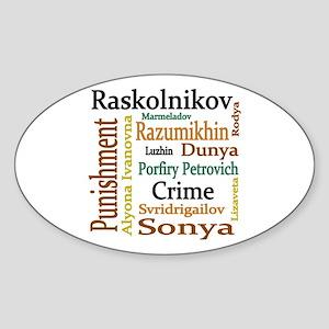 Dostoevsky Characters Sticker (Oval)