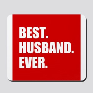 Red Best Husband Ever Mousepad
