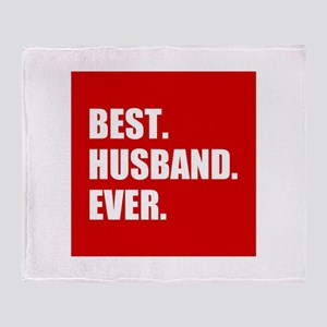 Red Best Husband Ever Throw Blanket