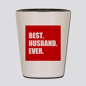 Red Best Husband Ever Shot Glass