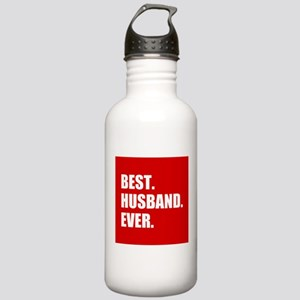 Red Best Husband Ever Sports Water Bottle