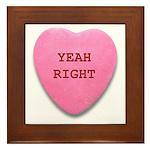 Candy Heart Framed Tile