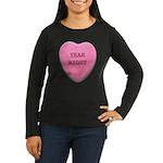 Candy Heart Women's Long Sleeve Dark T-Shirt