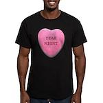 Candy Heart Men's Fitted T-Shirt (dark)