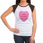 Candy Heart Women's Cap Sleeve T-Shirt