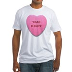 Candy Heart Fitted T-Shirt