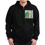 Monster Jobs Zip Hoodie (dark)