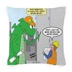 Monster Jobs Woven Throw Pillow
