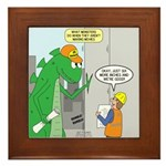 Monster Jobs Framed Tile