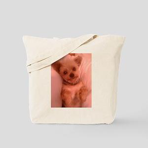 Cute Yorkie Puppy Tote Bag