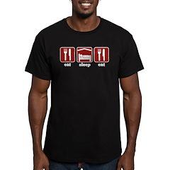 Eat, Sleep, Eat Men's Fitted T-Shirt (dark)