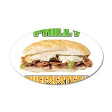 Philly CheeseSteak 22x14 Oval Wall Peel