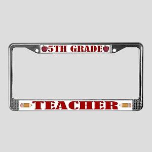5th Grade License Plate Frame
