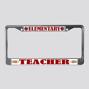 Elementary Teacher License Plate Frame