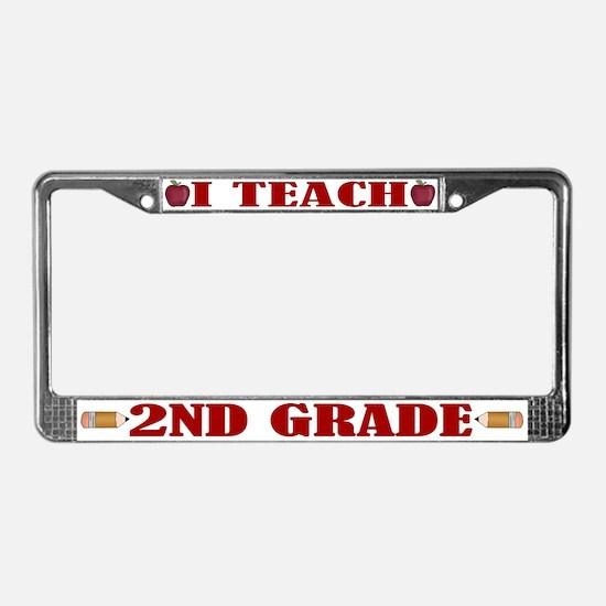 Second 2nd Grade Teacher License Plate Frame