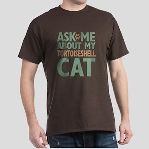 Tortoiseshell Cat Dark T-Shirt