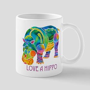 Colorful LOVE A HIPPO Mug