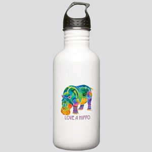 Colorful LOVE A HIPPO Stainless Water Bottle 1.0L