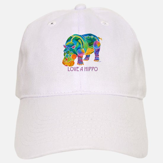 Colorful LOVE A HIPPO Baseball Baseball Cap