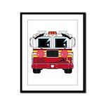 Cute Little Fire Engine Framed Panel Print