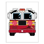 Cute Little Fire Engine Small Poster
