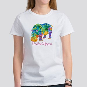 I Love Hippos of Many Colors Women's T-Shirt