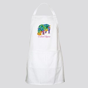 I Love Hippos of Many Colors Apron
