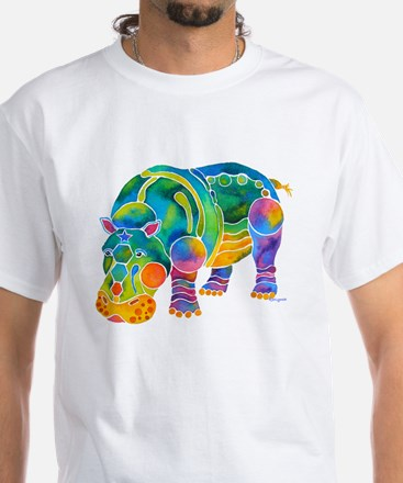 Most Popular HIPPO White T-Shirt
