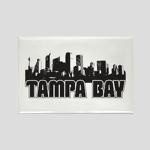 Tampa Bay Skyline Rectangle Magnet