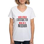 Body under construction... Women's V-Neck T-Shirt