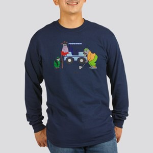 Playing Golf Long Sleeve Dark T-Shirt