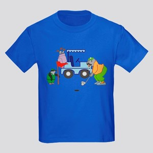 Playing Golf Kids Dark T-Shirt