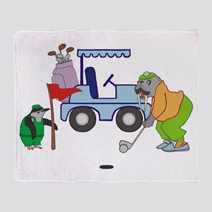 Playing Golf Throw Blanket