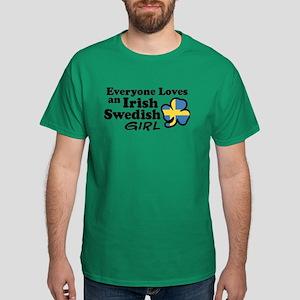 Irish Swedish Girl Dark T-Shirt