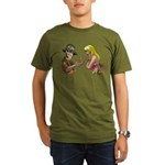 Amazing Fishing Worm Organic Men's T-Shirt (dark)