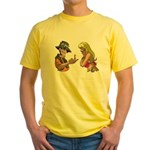 Amazing Fishing Worm Yellow T-Shirt