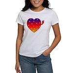 HeartPeaceSignRainbowPD T-Shirt