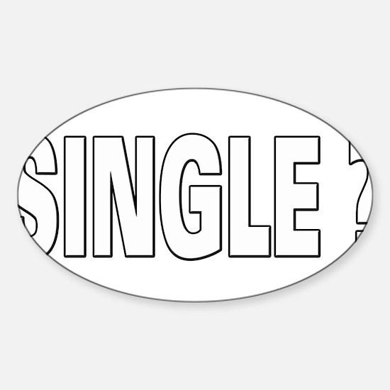Single ? Sticker (Oval)