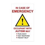 Autism emergency warning 10 Pack