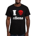 I Love Aliens Men's Fitted T-Shirt (dark)