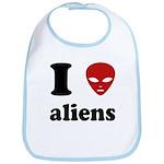I Love Aliens Bib