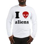 I Love Aliens Long Sleeve T-Shirt