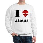 I Love Aliens Sweatshirt