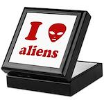 I Love Aliens Keepsake Box