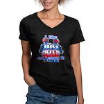I Like Big Bots Women's V-Neck Dark T-Shirt