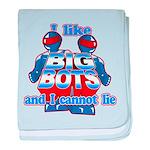 I Like Big Bots baby blanket
