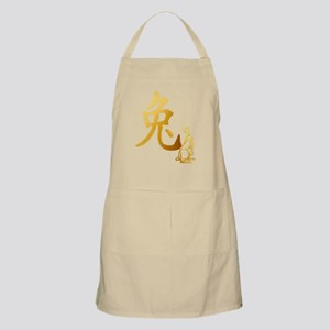 Gold Year Of The Rabbit Apron