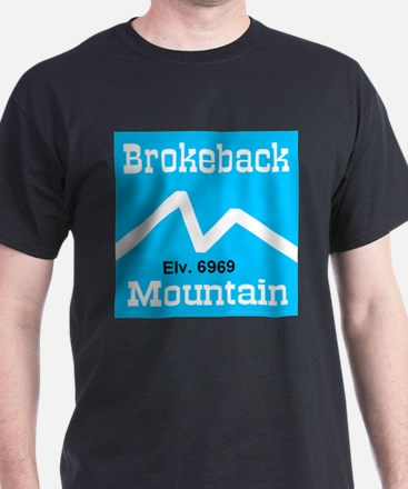 Brokeback Mountain Elv. 6969 Black T-Shirt