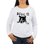 April 15 Women's Long Sleeve T-Shirt