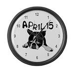 April 15 Large Wall Clock